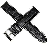 Swiss Legend 22MM Black Alligator Grain Leather Watch Strap, Stainless Buckle fits 49mm Scubador Watch