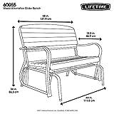 Lifetime 60055 Outdoor Glider Bench, 4', Walnut