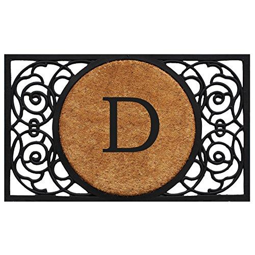 Mongram Letter - Home & More 180031830D Armada Circle Doormat, 18