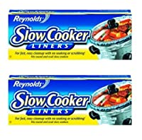 "Reynolds Metals 00504 Slow Cooker Liners 13""X21"" - 2 Pack by Reynolds Wrap"