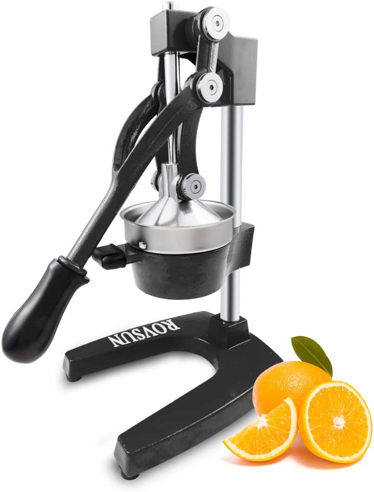 FCH Professional Citrus Juicer Hand Press Manual Citrus Press Juicer Squeezer Citrus Orange Lemon Pomegranate (Black)
