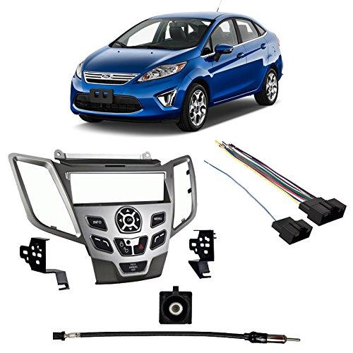 - Fits Ford Fiesta 2011 w/o Sync SDIN Harness Radio Install Kit - Silver Dash