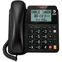 AT&T CL2940 Corded Phone with Speakerphone, Extra-Large Tilt Display/Buttons, Caller ID/Call Waiting and Audio Assist, Black (Certified Refurbished)