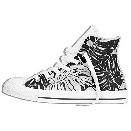 Zapatillas De Deporte Clásicas Superiores Zapatos De Lona Hoja Antideslizante Casual Caminando Para Hombres Mujeres Blanco