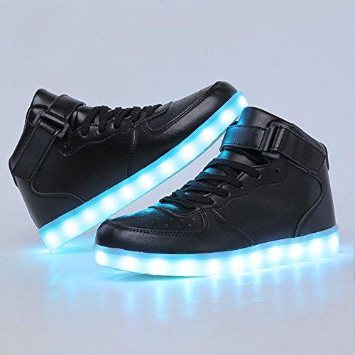 Kids High Top USB Charging LED Shoes Flashing Fashion Sneakers BK35