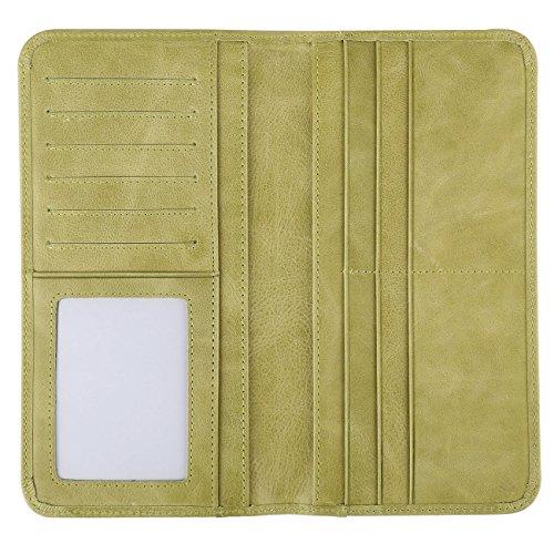 Women's Wallet - Genuine Italian Leather Long Bifold RFID Blocking Wallet