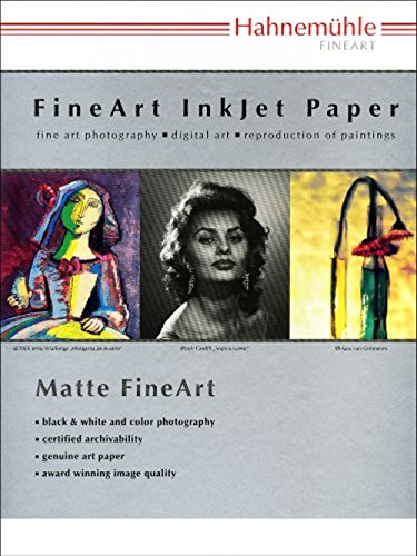 Hahnemuhle Matte German Etching, 100% TCF Pulp, Natural White Watercolor Inkjet Paper, 19.6 mil, 310 g/mA, 8.5x11, 25 Sheets ()