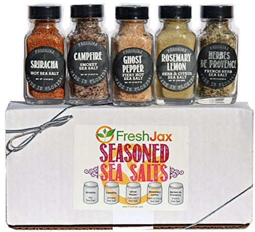 (FreshJax Seasoned Sea Salts Gift Set, (Set of 5))