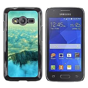 Smartphone Rígido Protección única Imagen Carcasa Funda Tapa Skin Case Para Samsung Galaxy Ace 4 G313 SM-G313F Nature Beautiful Mountain Clouds / STRONG