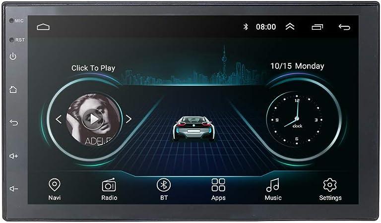 Universal Car GPS Navigation 2 DIN Vehicle FM Player con Android 9.0 OS Pantalla táctil de 7 Pulgadas Compatible con CAM-IN Mirror-Link Bluetooth WiFi ...