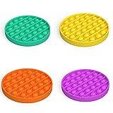 4 Pack Push Pop Poke Pop Bubble Sensory Fidget Toy