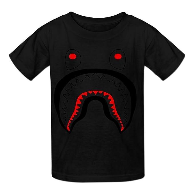 62c29db6 Amazon.com: Kidsloveit Kids Bape Shark Short Sleeve T Shirts for ...