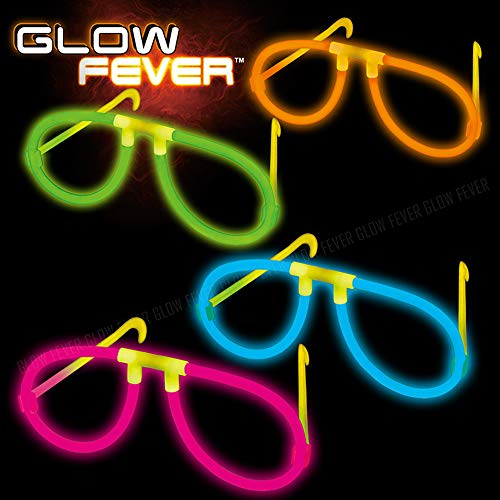 Glow Sticks Bulk 50ct Glow Eyeglasses, Glow in The Dark Rave Party Glasses Birthday Wedding Favors Glow Party Supplies Christmas Halloween Decor -