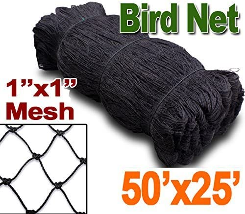 Mcage 1 Mesh Size, Net Netting for Bird Poultry Aviary Game Pens Plants Garden 50ft x 100ft