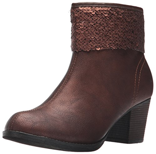 Skechers Women's Taxi-Starlet Boot,Bronze,6.5 M US Bronze Ankle Boot