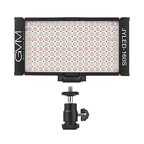 Docooler GVM 160 LED Light Dimmable Ultra High Power Bi-Color Temperature 2300K-6800K Panel Light on Digital Camera Camcorder DSLR Video Light for Canon Nikon Sony Panasonic Olypus Lighting