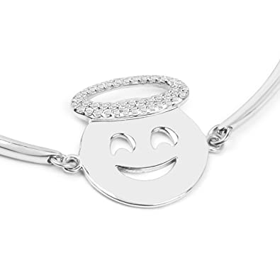 41941986a3a9f Huang and Co. Smiling Face with Halo Emoji White Topaz 0.25 Carats ...