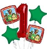 Wonder Pets Balloon Bouquet 1st Birthday 5 pcs - Party Supplies