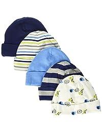 Gerber Gorras para niños pequeños, Paquete de 5