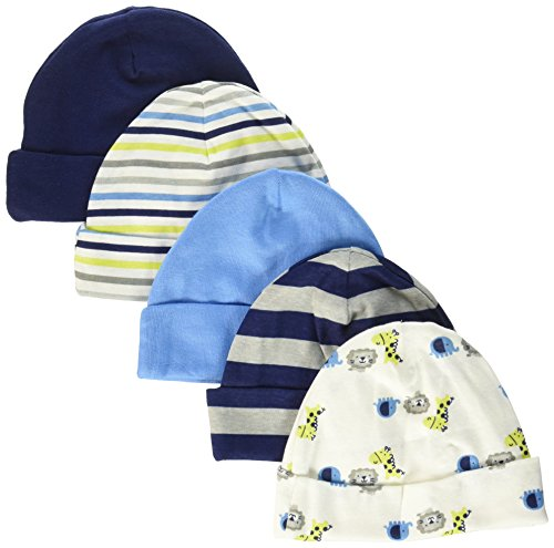 gerber-baby-boys-5-pack-caps-safari-0-6-months