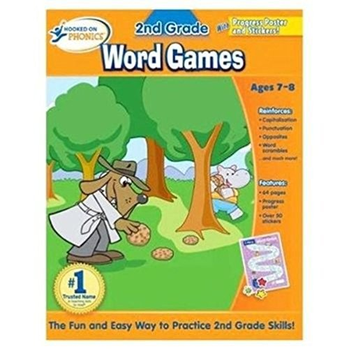Lunarland Hooked on Phonics 2nd Grade Word Games Reading Book NEW Workbook School (Words Go With That Autumn)