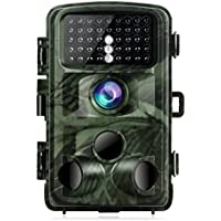 TOGUARD Trail Camera 14MP 1080P Night Vision Game Camera Motion Activated Wildlife Hunting Cam 120° Detection with 0.3s Trigger Speed 2.4 LCD Display IP56 Waterproof