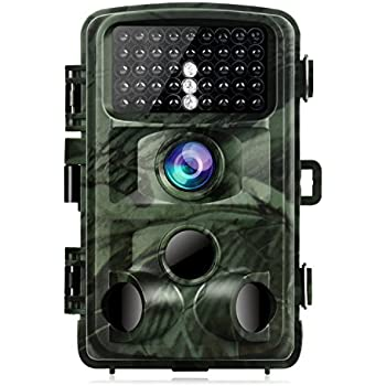 """TOGUARD Trail Camera 14MP 1080P Night Vision Game Camera Motion Activated Wildlife Hunting Cam 120° Detection with 0.3s Trigger Speed 2.4"""" LCD Display IP56 Waterproof"""