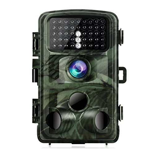 TOGUARD Trail Camera 14MP 1080P Night Vision Game Camera Motion Activated Wildlife Hunting Cam 120° Detection with 0.3s Trigger Speed 2.4' LCD Display IP56 Waterproof