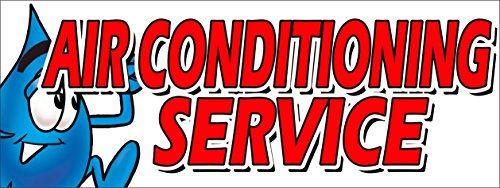 "AIR CONDITIONING SERVICE VINYL BANNER SIGN ac cooling technician air cold maintenance (24"" X 72"")"