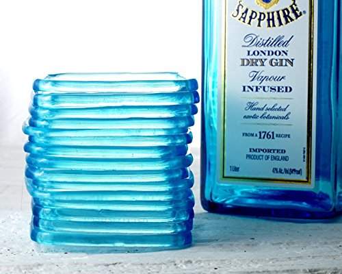 Sapphire Blue Gin Bottle Bangle - Recycled Bombay Sapphire Bottle Stackable Bracelet