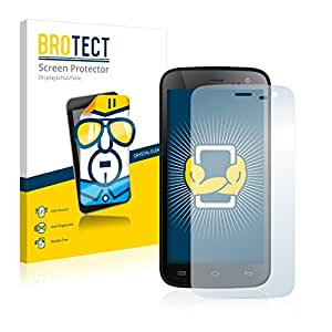 2x BROTECT HD-Clear Protector Pantalla Mobistel Cynus F4 Película Protectora – Transparente, Anti-Huellas