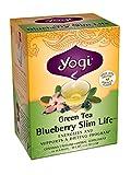 Yogi Blueberry Slim Life Green Tea, 16 Tea Bags (Pack of 6)