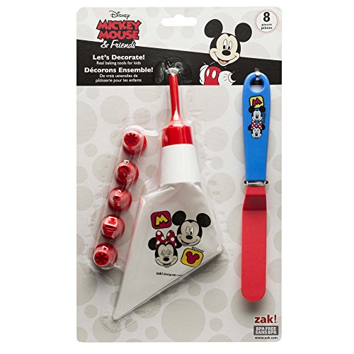 Zak Designs Mickey & Minnie Mouse Frosting Bag and 6 Tips for Cooking with Kids, Mickey & Minnie ()