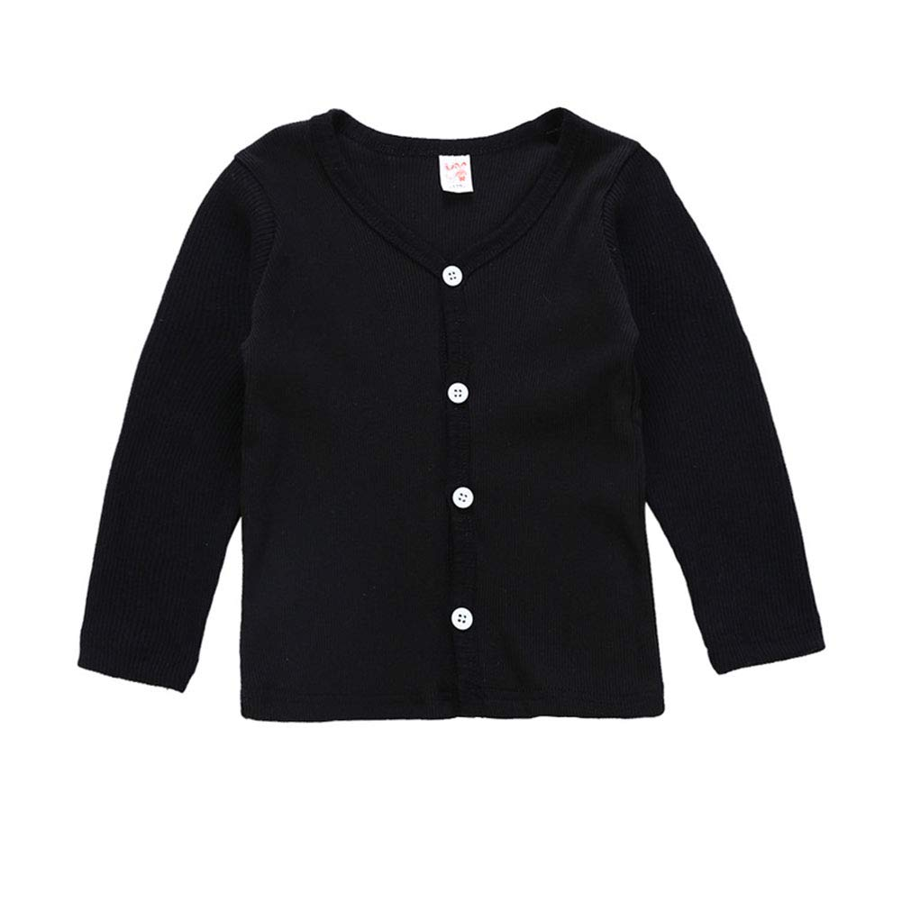 Mornyray Baby Kids Girls/' V-Neck Knit Cardigan Sweater Casual Long Sleeve Tops