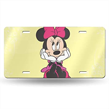 Mickey Mouse License Plate Sign Tag Car Accessories 12 X 6 in