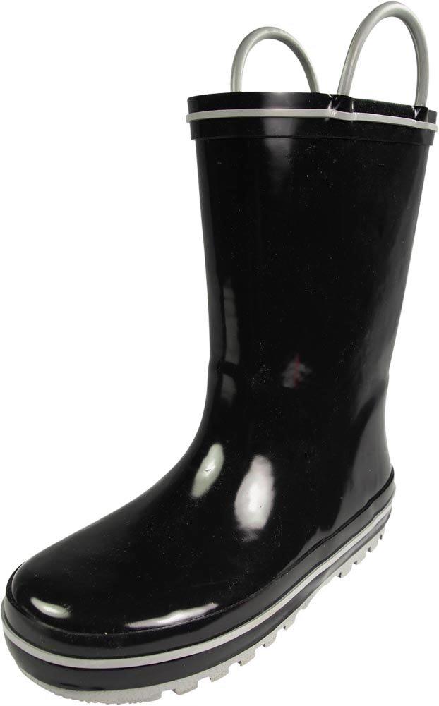 NORTY - Boys Waterproof Rainboot, Black, Silver 39829-4MUSBigKid