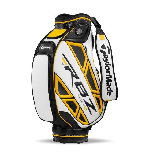 TaylorMade Triton Staff Bag, White/Gray/Gold
