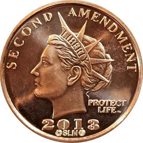 2nd Amendment Liberty Gun Dollars .999 Pure Copper BU Round Coin