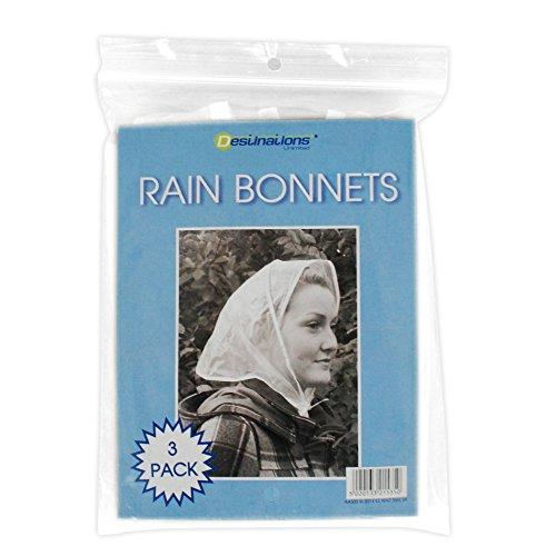 nbsp;lot Nœud – Bonnets Avec Transparent 3 En De Pluie Étanche Plastique 14Bz0w