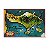 Trademark Fine Art Bali Province Of Indonesia by Vintage Lavoie, 16x24-Inch Canvas Wall Art