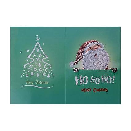 Tarjetas de felicitación de Navidad con 5D DIY Diamond ...