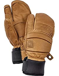Hestra Hestra Mens Ski Gloves: Fall Line Winter Cold Weather Leather 3-finger Mittens