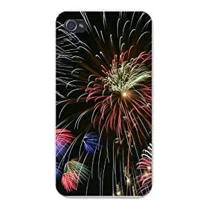 Apple Iphone Custom Case 5c White Plastic Snap on - Independence Day Fireworks 4th of July Celebration