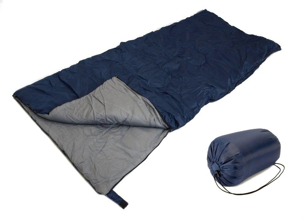 SLEEPING BAG - 20+ Degrees - NAVY Blau - CAMPING GEAR - Carrying Bag NEW by EDMBG