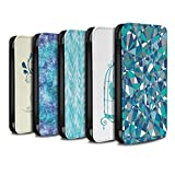eSwish PU Leather Wallet Flip Case/Cover for Huawei P Smart/Pack 18pcs Design/Teal Fashion Collection