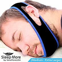 Sleep Apnea Snoring, Stop Snoring Mouthpiece Chin Strap. Adjustable, Anti-Snore Solution Jaw Strap (Medium – Extra Large) Sleep More & Snore Less