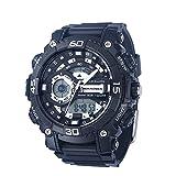 Wrist Armor Men's 'C40' Quartz Resin and Rubber Sport Watch, Color:Black (Model: 37100047)