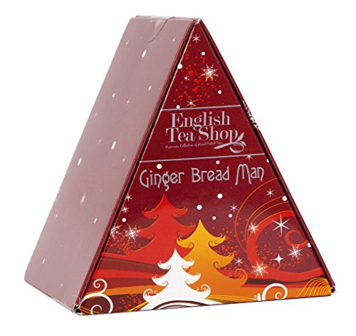 English Tea Shop Ginger Bread Man Nylon Pyramid, 12 Gram by English Tea Shop