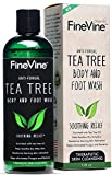 #9: FineVine Antifungal Tea Tree Oil Body Wash - Made in USA - Helps Treat Eczema, Ringworm, Body Odor, Jock Itch, Acne, Toenail Fungus & Athlete - Best Antibacterial Soap for Skin Irritations.