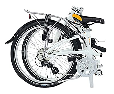 """Briza D8 24"""" Folding Bicycle- Frost White"""